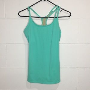 Fabletics Strappy Tank Top Teal